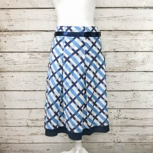 Tommy Hilfiger Blue Plaid A-Line Skirt Sz 8
